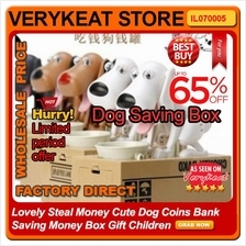 Lovely Steal Money Cute Dog Coins Bank Saving Money Box Gift Children