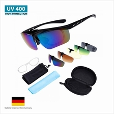 MAXGear Sunglasses 5 Lens UV400 Cycling Outdoor Sports Bicycle SG99