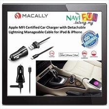 ★ MACALLY Car Charger w/ Detachable Lightning Cable for Apple