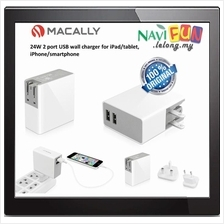 ★ MACALLY 24Watt with Two USB Port Home Charger
