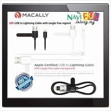★ MACALLY 10ft USB to Lightning Cable with tangle free mgmnt