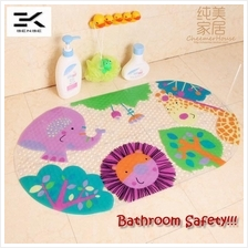 Bathroom Safety!! Cartoon Bath Mat Shower Thick PVC Floor Mats (FM-12)