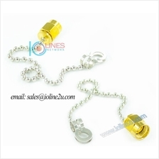RP-SMA/SMA Jack Metal Dust cover Cap with Chain WeatherProof Protectio