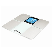 V-Fitz BMI Scale Body Fat Composition [More Function] LCD Scale White