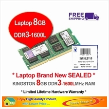 KINGSTON 8GB DDR3-1600 LAPTOP RAM Memory