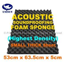 GradeAA ACOUSTIC SoundProofing FOAM SPONGE Small Thick Sheet 53x63.5cm