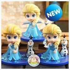 Frozen Elsa with Olaf Mini Figures Toy Doll Cake Topper (Q Version)