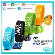 MAXGear W2 Wristband Sport Pedometer Wristband LED Smart Watch USB scs