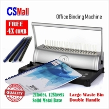 2in1 HS815 Office School Home Punch Bind Comb Binder Binding Machine