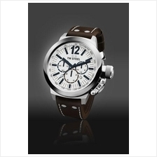 TW Steel CE1007 CEO Canteen 45mm Chrono Mineral 100M Leather White
