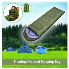 Envelope Hooded Traveler Camping Sleeping Bag Mat Blanket for Outdoor