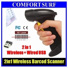 NEW CHITENG CT980B Wireless Laser Barcode Scanner Micro USB + Memory