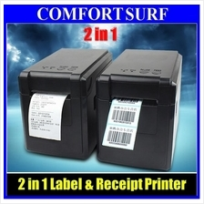 2in1 GP-2120TF Quality Barcode Label + Receipt Thermal Printer