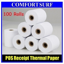 100 x Rolls POS Cash Register Thermal Receipt Paper 57x50mm / 80x50mm