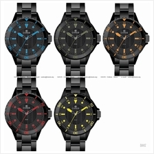 CORES Watch CR1101-IPB Sporty Bracelet IP Black Japan Movement