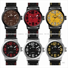 CORES Watch CR1102-IPBL CR1102-STL Active Leather Date 2-Layer Dials