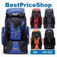 LXZ-023 60L Outdoor Climbing Camping Hiking Sport Quality Backpack Bag