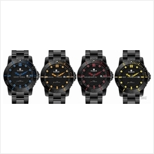 CORES Watch CR1103-IPB Grande Bracelet IP Black Date