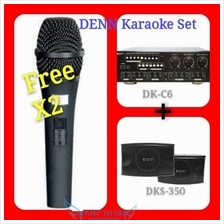 DENN DK-C6 Home Karaoke Package Full Set Free Dynamic Microphone X2