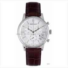 Claude Bernard . 01002 3 AIN . Classic (M) Chrono Leather White
