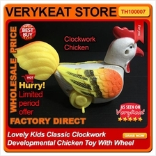 Lovely Kids Classic Clockwork Developmental Chicken Toy With Wheel