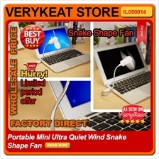 Portable Mini Ultra Quiet Wind Snake Shape USB Fan portable Notebook