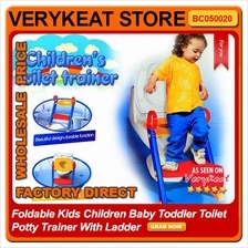 Foldable Kids Children Baby Toddler Toilet Potty Trainer With Ladder