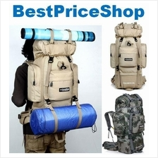 85L Local Lion Water Resistant Large Steel Frame Hiking Backpack Bag