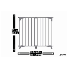 Halford Double Panel Metal Safety Gate