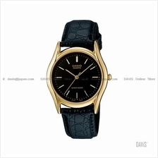 CASIO MTP-1094Q-1A STANDARD Analog index face leather strap black