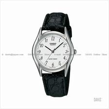 CASIO MTP-1094E-7B STANDARD Analog arabic face leather strap white