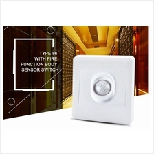 PIR Motion Sensor 86 Socket Type Lighting Control Switch