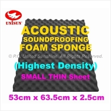 Grade AA ACOUSTIC SoundProofing FOAM SPONGE Small Thin Sheet 53x63.5cm