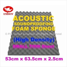 Grade A ACOUSTIC SoundProofing FOAM SPONGE Small Thin Sheet 53x63.5cm