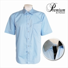 PREMIUM BIG SIZE Short Sleeves Shirt PMP8150 ( Solid Lt.Blue)