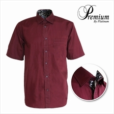 PREMIUM BIG SIZE Solid Plain Shirt PMP8152 (Maroon)