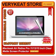 Macbook Air Retina Pro 11/13/15/17 Inch Clear Matte Screen Protector