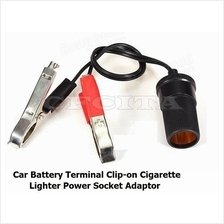 Car Battery Terminal Clip-on Cigarette Lighter Power Socket Adaptor