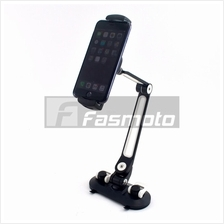 Phone and Tablet iPad Holder with dual suction cup mounts