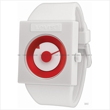 LEVI'S TIME LTH0702 STANDARD disk dial silicone strap white red