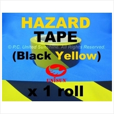 HAZARD WARNING TAPE 48mm x30m(33Y)L Black/Yellow Floor Marking Caution