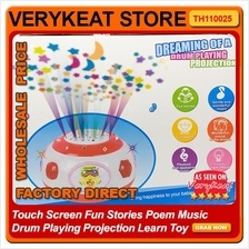 Touch Screen Fun Stories Poem Music Drum Playing Projection Learn Toy