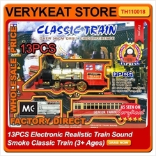 13PCS Electronic Realistic Train Sound Smoke Classic Train (3+ Ages)