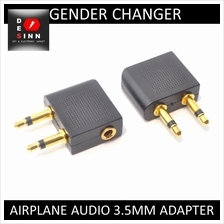Flight Airplane 3.5mm audio jack adapter Gold Plated /pc