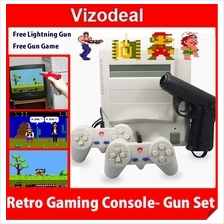 NES FC Retro Video Games Console D31 (Free Gun and Gun Game Cartridge)