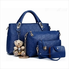 2015 Lady Women Fashion HandBag /New Korean Embossed Handbags Set