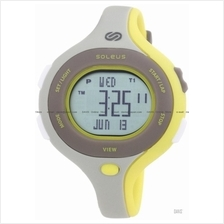 SOLEUS Running SR009-072 Chicked 30-lap interval timer PU gray yellow