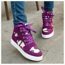 T004337 Casual Simple High Top Women´s Casual Canvas Stylish Shoes
