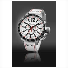 TW Steel CE1014 CEO Canteen 50mm Chrono Mineral 100M Leather White