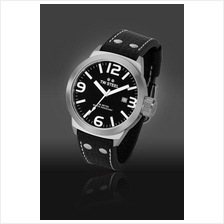 TW Steel TW623 Icon 50mm Date Mineral Quartz 50M Leather Black